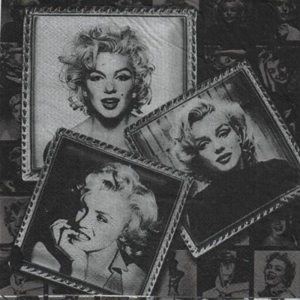 Serviette papier cinéma Marilyn Monroe 33 cm X 33 cm 2 plis