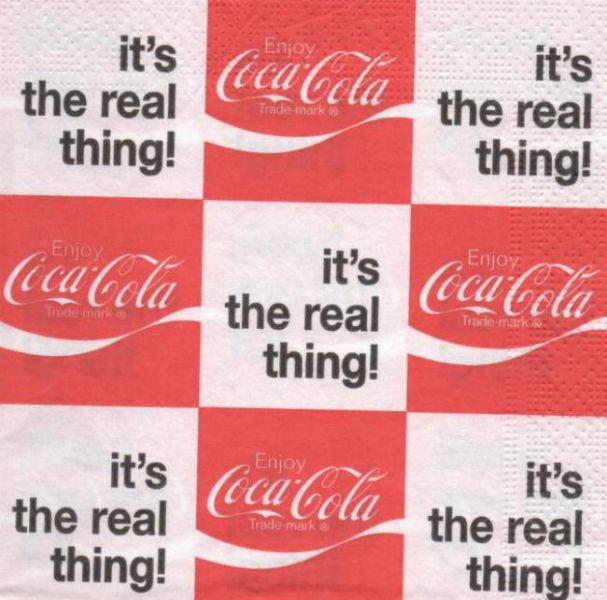 Serviette papier Coca Cola the real