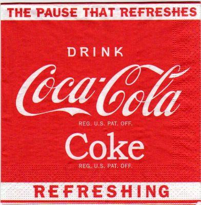 Serviette papier Coca Cola