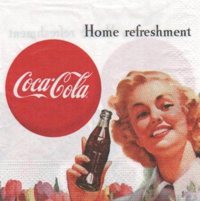 Publicit serviette papier coca cola vintage - Fourniture loisirs creatifs ...