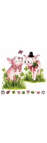 Serviette papier cochons dans l'herbe 33cm X 33 cm 3 plis