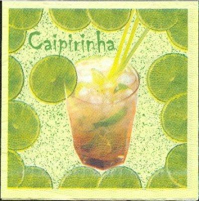 Serviette papier cocktail fruits 25 cm x 25 cm