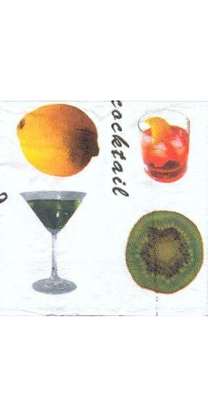 Serviette papier cocktail orange 25 cm x 25 cm
