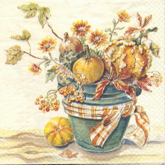 Fruits serviette papier coloquintes 33 cm x 33 cm 3 plis - Fournitures loisirs creatifs ...