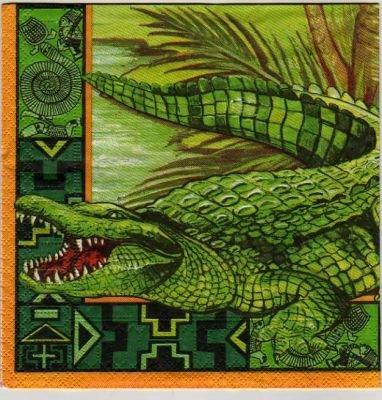 Serviette papier crocodile 33 cm X 33 cm 3 plis