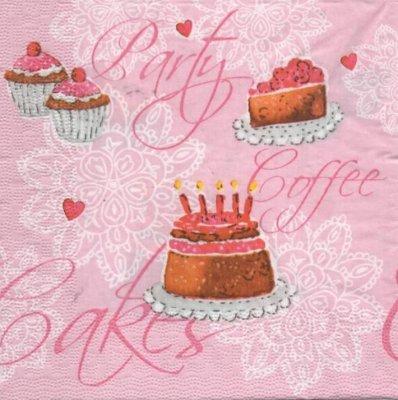 Serviette papier cupcakes sucré 33 cm X 33 cm 3 plis