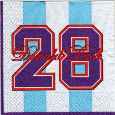 Serviette papier Donald de 33 cm X 33 cm 3 plis