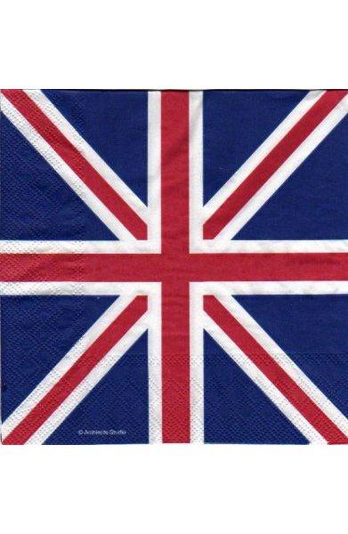 Serviette papier drapeau Britanique 33 cm X 33 cm 3 plis