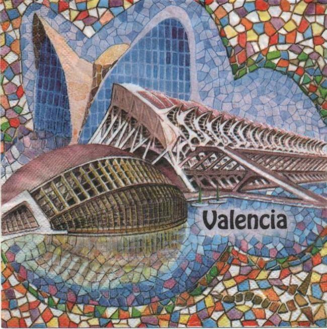Serviette papier Espagne Valencia 33 cm X 33 cm 2 plis