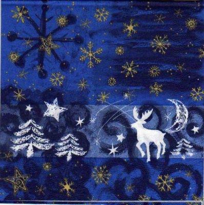 Serviette papier étoile Noël Jaune 33 cm X 33 cm 3 plis