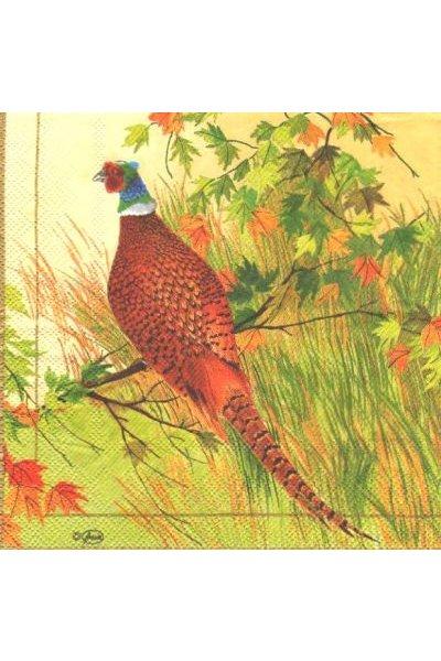 Serviette papier Faisan 33cm X 33 cm 3 plis