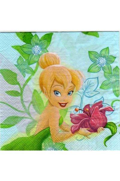 Serviette papier Fée Clochette 33 cm X 33 cm 2 plis