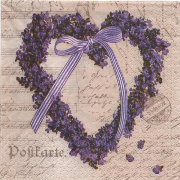 Serviette papier fleurs bleu couronne 33 cm X 33 cm 3 plis