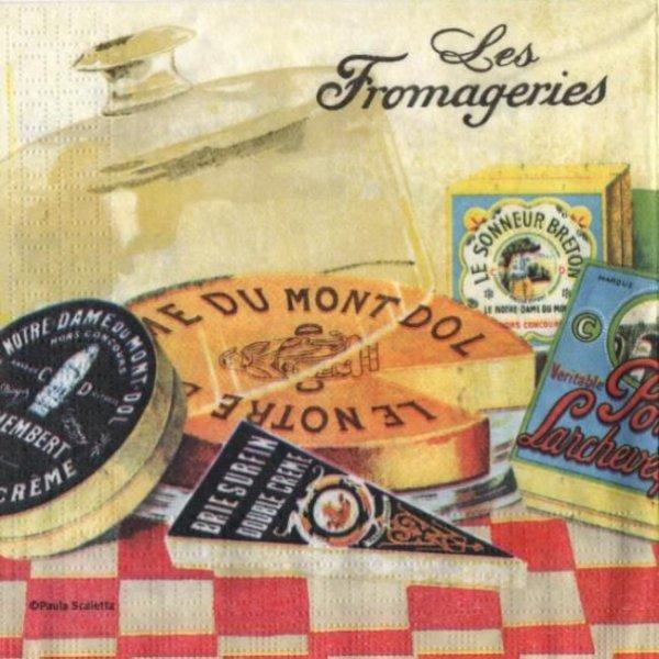 Serviette papier les fromageries 33 cm X 33 cm 3 plis