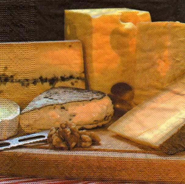 Serviette papier fromages de 33 cm X 33 cm 3 plis