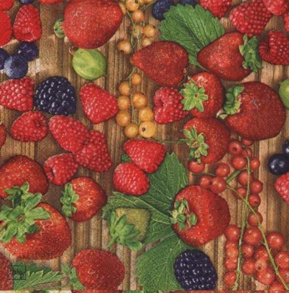 Serviette papier fruits ETE 33 cm X 33 cm 3 plis