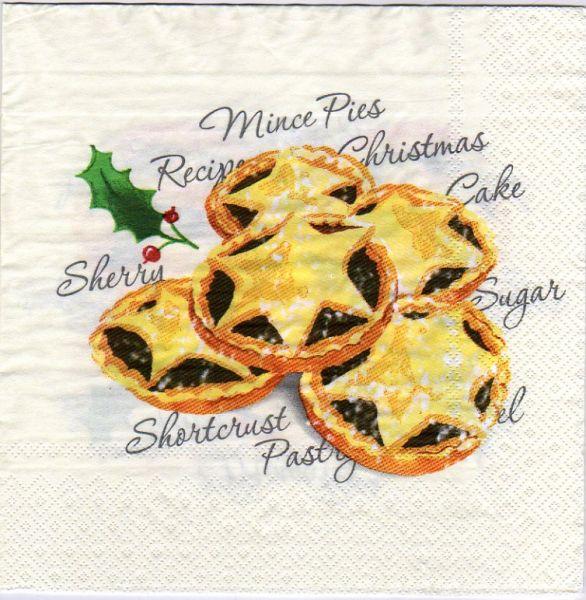 Serviette papier gâteau de Noël de 40 cm X 40 cm 3 plis