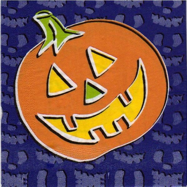 Serviette papier Décoration Halloween 33 cm X 33 cm