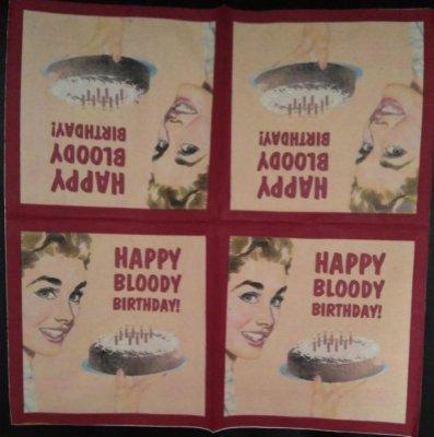 Serviette papier Happy Bloody Birthday 33 cm X 33 cm 2 plis