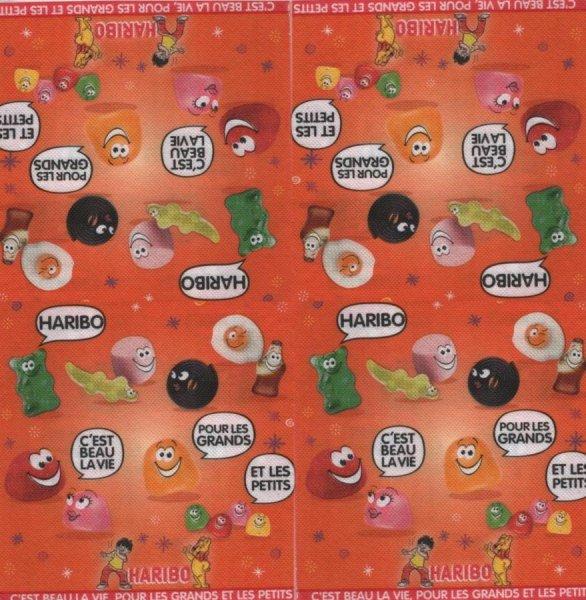 Serviette papier Haribo publicité 33 cm X 33 cm 3 plis
