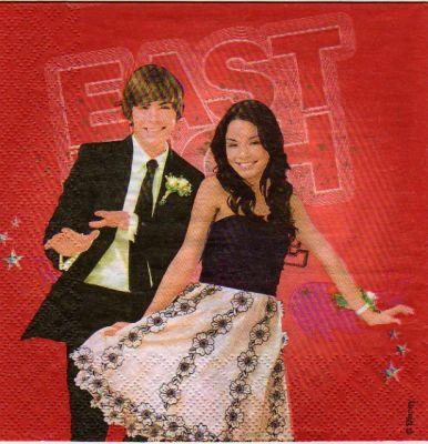 Serviette papier High School Musical 3