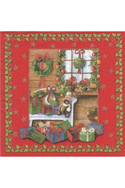 Serviette papier Home Noël 33 cm X 33 cm 3 plis