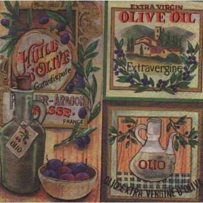 Serviette papier huile d'olive vierge de 33 cm X 33 cm