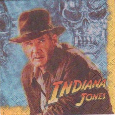 Serviette papier Indiana Jones