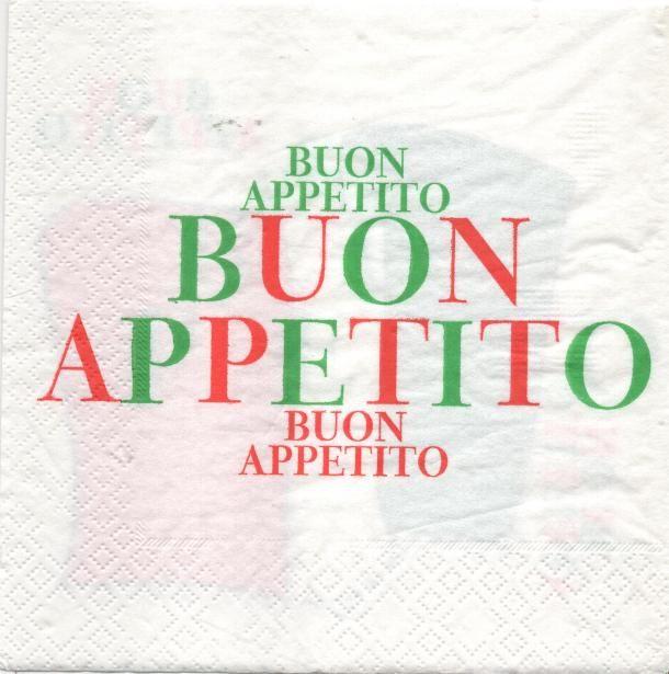 Serviette papier Italie Buon Appetito 33 cm X 33 cm 3 plis
