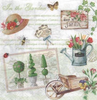 Serviette papier fleurs et jardins 33 cm x 33 cm 3 plis