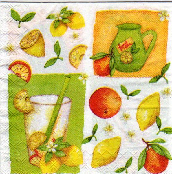 Serviette papier Jus de fruits de 33 cm X 33 cm 3 plis