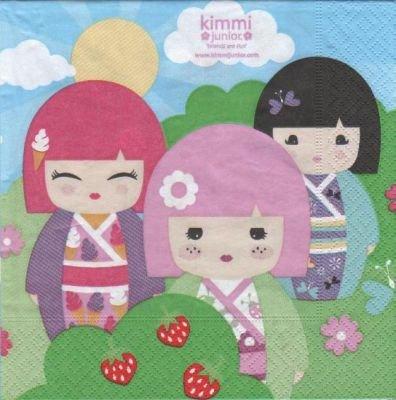 Serviette papier Kimmi Junior - 33 cm X 33 cm 3 plis