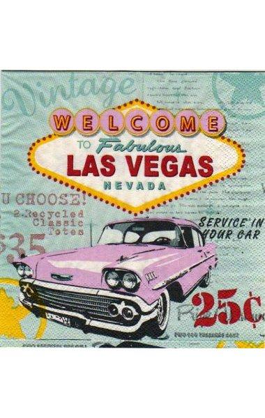 Serviette papier Las Vegas 33 cm X 33 cm 3 plis