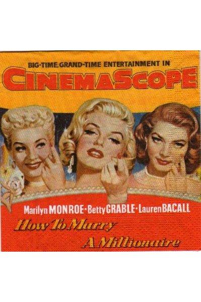 Serviette papier Lauren Bacall 33 cm X 33 cm 3 plis