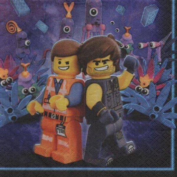Serviette papier Lego Le Film 33 cm X 33 cm 2 plis
