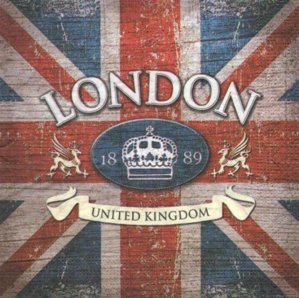 Serviette papier London 1889 33 cm X 33 cm 3 plis