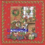 Serviette papier maison de Noël
