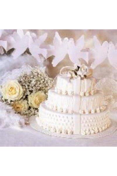 Serviette papier mariage et piece montée