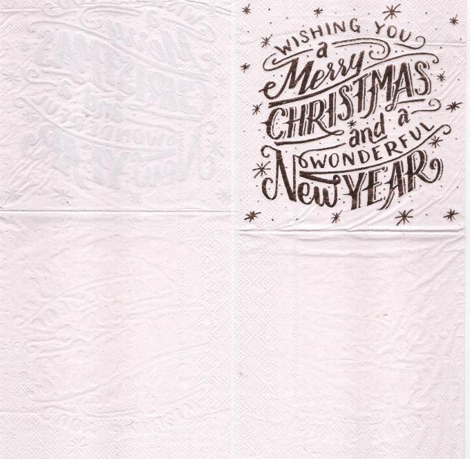Serviette papier Merry Christmas 25 cm X 25 cm 2 plis