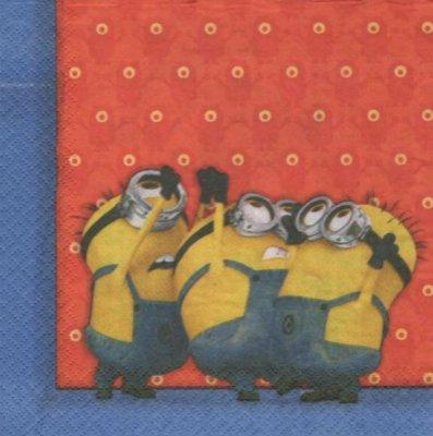 Serviette papier Les Minions  33 cm X 33 cm 2 plis