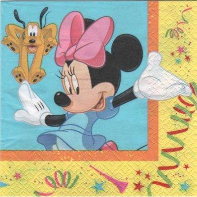 Serviette papier Minnie et Pluto  33 cm X 33 cm
