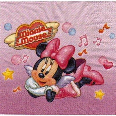 Serviette papier Minnie music  33 cm X 33 cm
