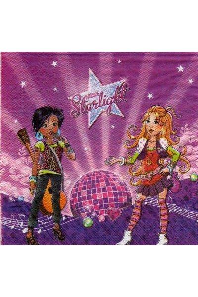 Serviette papier Miss Starlight de 33 cm X 33 cm 3 plis