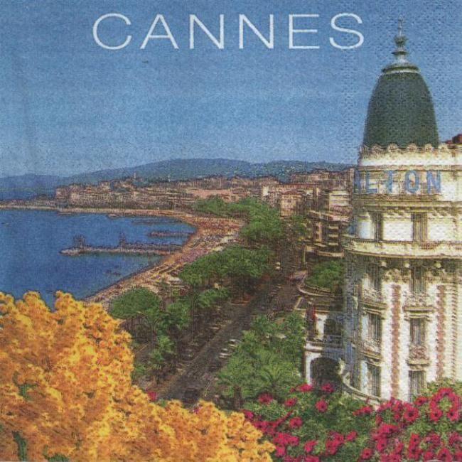Serviette papier Monaco et le Sud 33 cm X 33 cm 3 plis
