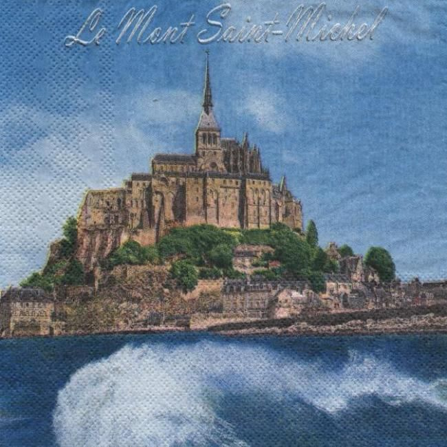 Serviette papier Mont Saint Michel 33 cm X 33 cm 3 plis