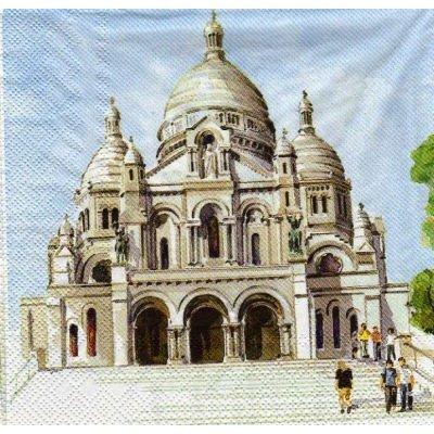 Serviette papier Montmartre 33 cm X 33 cm 3 plis