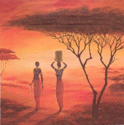 Serviette papier Afrique Femme 33 cm X 33 cm 3 plis