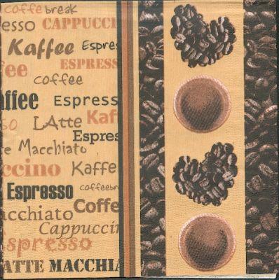 Serviette papier motif café de 33 cm X 33 cm 3 plis