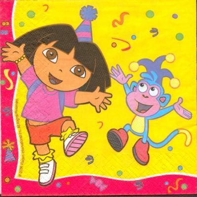 Serviette papier Dora de 33 cm X 33 cm 3 plis