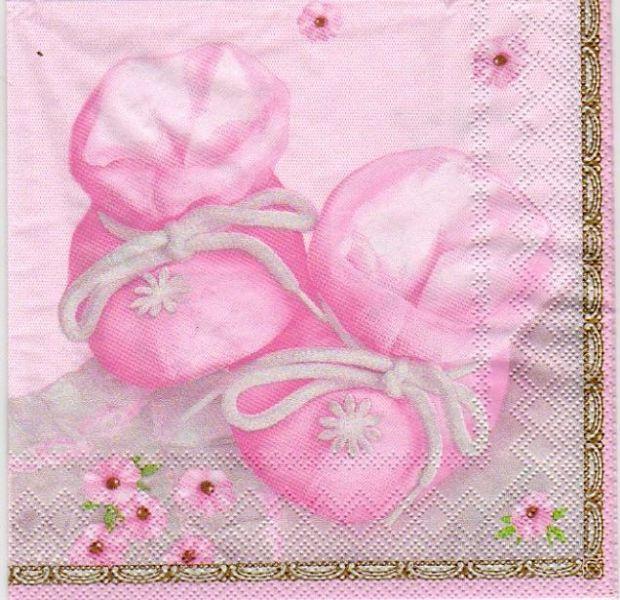 Serviette papier motifs divers serviette papier motif naissance fille 33 cm x 33 cm 3 plis - Serviette en papier motif ...